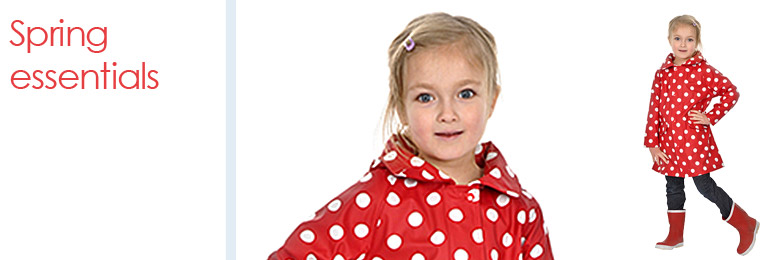 Spring Essentials Collection from Raindrops - childrens rainwear, wellies and moccasins.